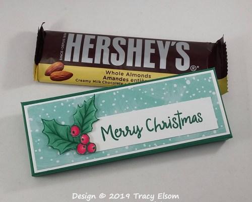 BB53 Christmas Hershey Bar Box
