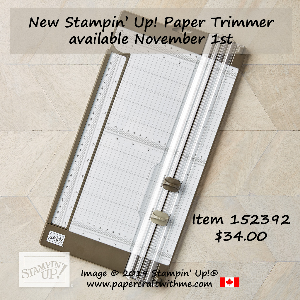 The new Stampin' Up! Trimmer will be available to purchase on November 1st, 2019. #papercraftwithme