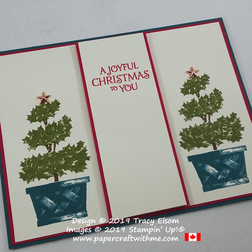 "Simple ""Joyful Christmas"" card created using the Beauty & Joy Stamp Set with Star Designer Elements from Stampin' Up! #papercraftwithme"