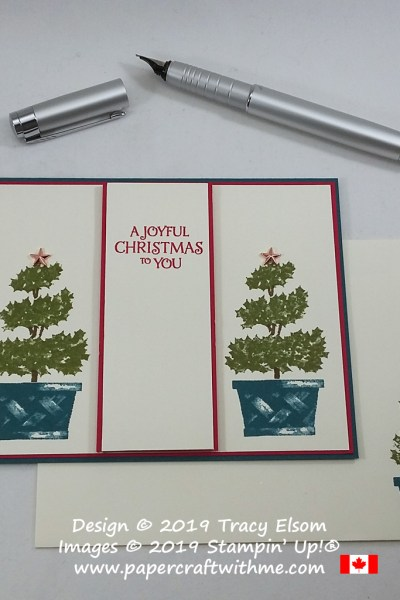 """Simple """"Joyful Christmas"""" card created using the Beauty & Joy Stamp Set with Star Designer Elements from Stampin' Up! #papercraftwithme"""