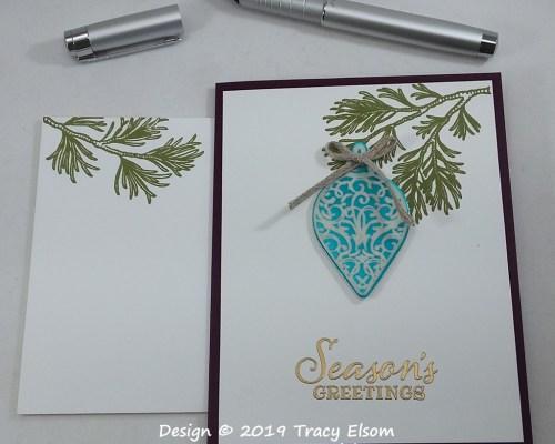 1867 Faux Enamel Ornament Card