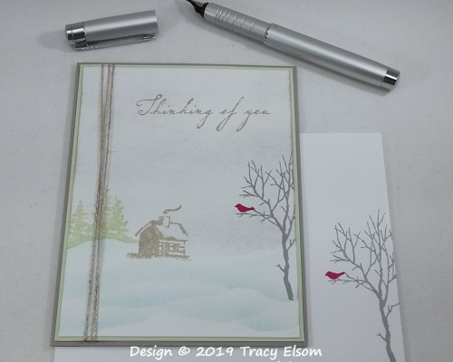 1869 Snowy Thinking Of You Card