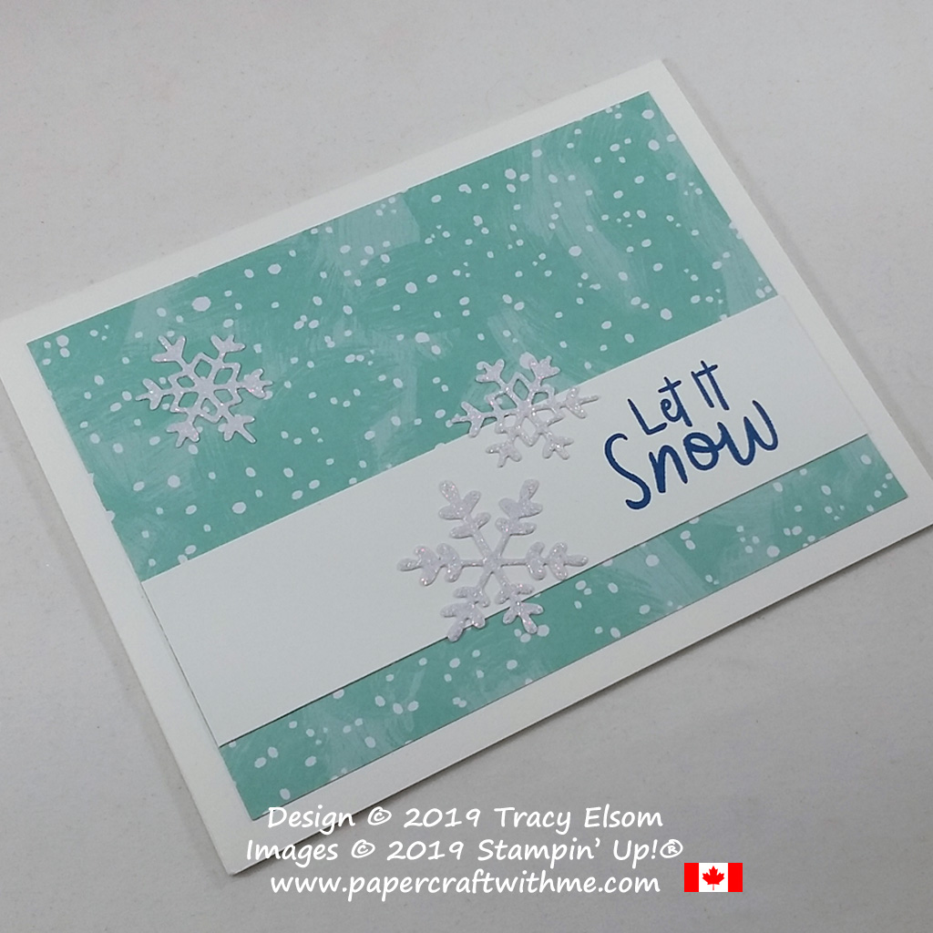 """Simple """"Let it Snow"""" card created using the Snowman Season Stamp Set and Seasonal Layers Dies from Stampin' Up! #papercraftwithme"""