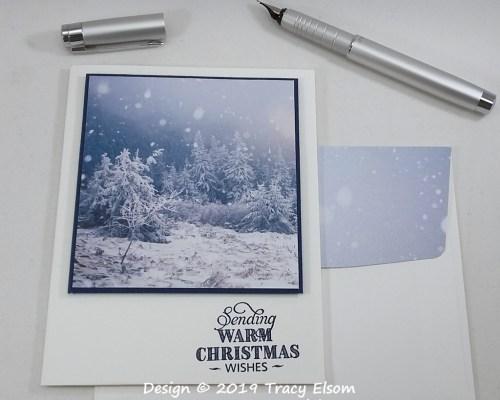 1874 Simple Winter Scene Card