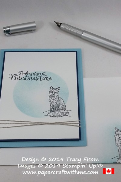 """""""Thinking of you at Christmastime"""" for Diabetes Awareness Day created using the Nature's Beauty and Greatest Part of Christmas Stamp Sets from Stampin' Up! #papercraftwithme"""