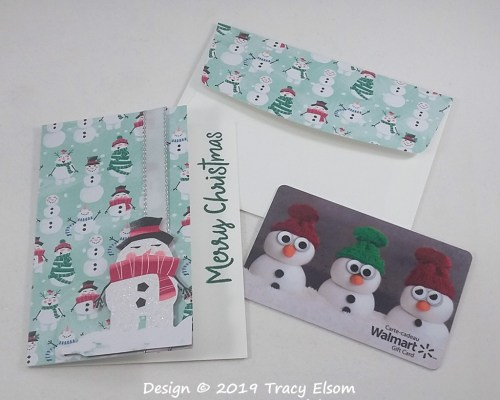 GC212 Snowman Giftcard Holder with Card