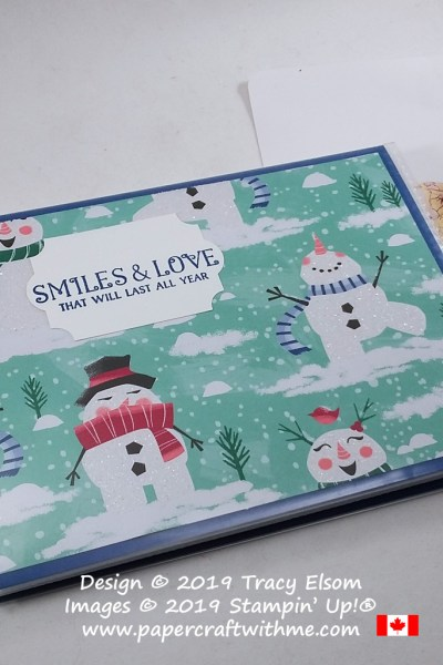 "Smiles & love that will last all year. This altered sentiment from the Greatest Part Of Christmas (Host) Stamp Set from Stampin' Up! was perfect for my 4"" x 6"" pocket photo album project. #papercraftwithme"