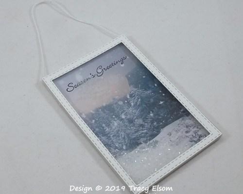 Snowy Scene Shaker Gift Tag