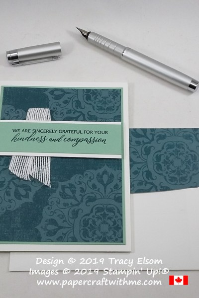 """We are sincerely grateful for your kindness and compassion"" is the sentiment on this simple card created using the Kindness & Compassion Stamp Set from Stampin' Up! #papercraftwithme"