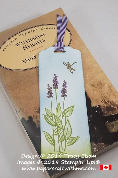 This simple flower and dragonfly bookmark was created using the Soft Spring (host) Stamp Set from Stampin' Up! #papercraftwithme