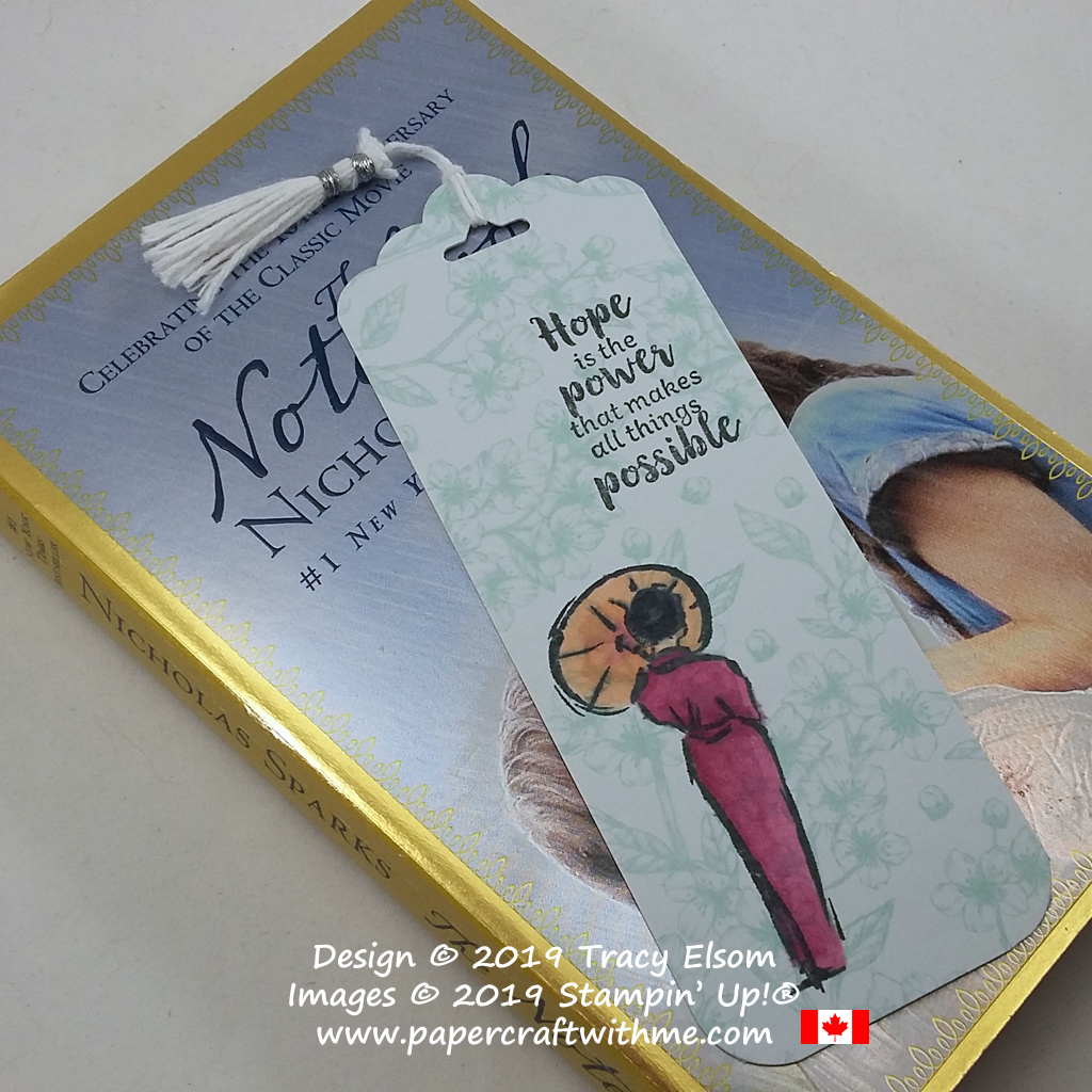 Simple inspirational bookmark created with the free Power of Hope Stamp Set from Stampin' Up! #papercraftwithme