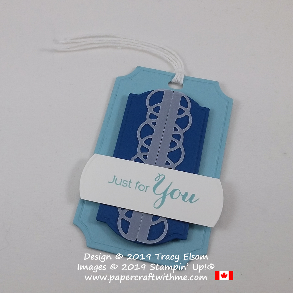 "Masculine ""Just for You"" tag created using the Vibrant Vases Stamp Set and Painted Labels Dies from Stampin' Up! #papercraftwithme"