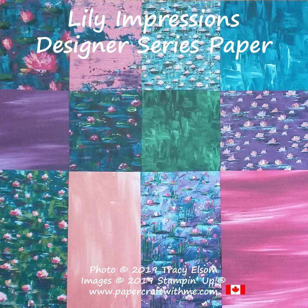 Lily Impressions Designer Series Paper from Stampin' Up! (available FREE Jan3 to Mar31, 2020). #papercraftwithme
