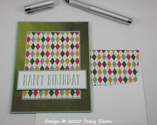 1906 Harlequin Birthday Card