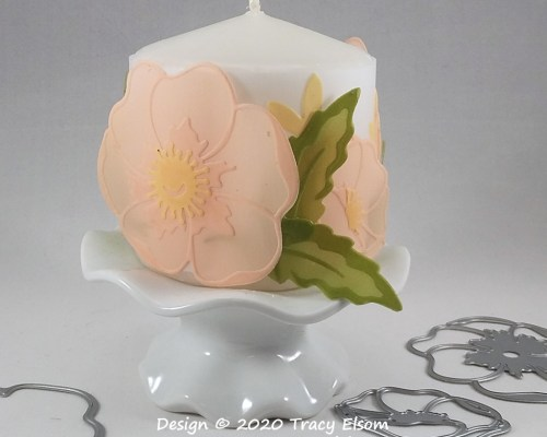 Vellum Flowers Candle Collar