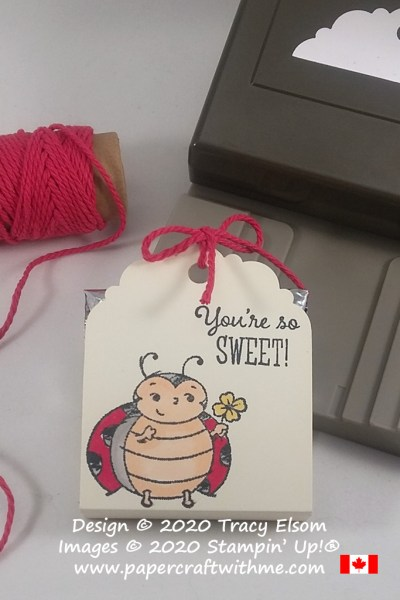 You're so sweet and so is this treat holder created using the FREE Little Ladybug Stamp Set from Stampin' Up! #papercraftwithme