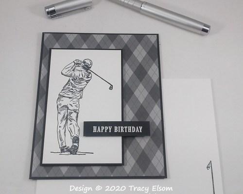 1915 Happy Birthday Golfer Card