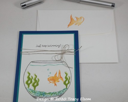 1919 Just Keep Swimming Card