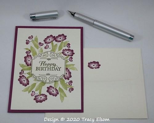 1937 Razzleberry Floral Birthday Card