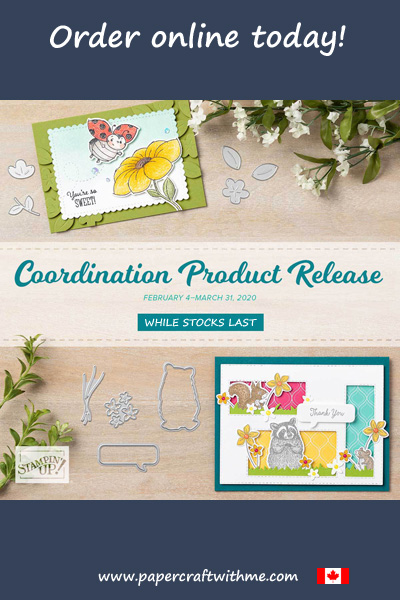 For a limited time get dies and paper to coordinate with selected stamp sets and punches from the Stampin' Up! January to June Min Catalogue and 2020 Sale-A-Bration Brochure. #papercraftwithme