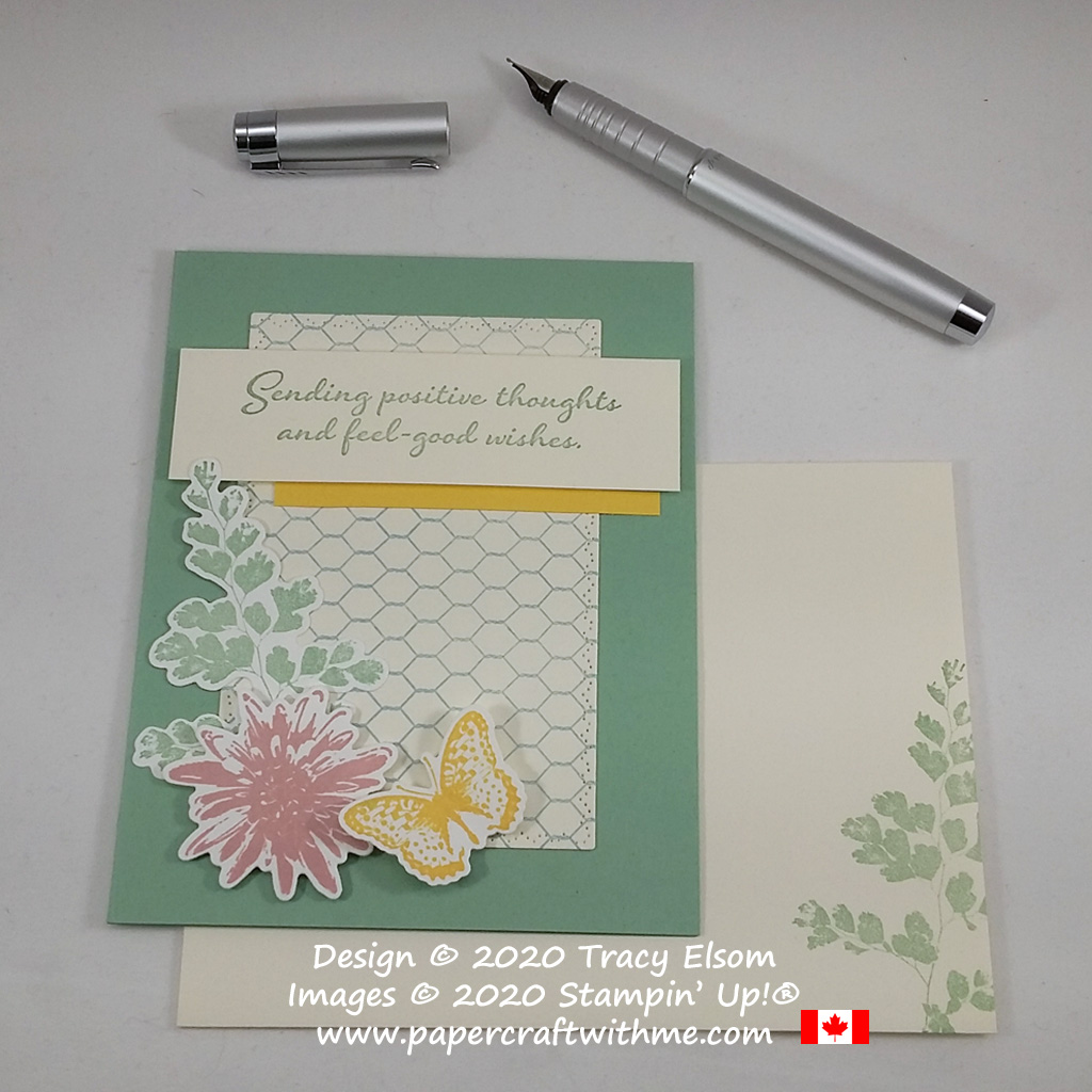 Sending positive thoughts and feel-good wishes in pastel colours using the Positive Thoughts and All Wired Up Stamp Sets and Nature's Thoughts Dies from Stampin' Up! #papercraftwithme