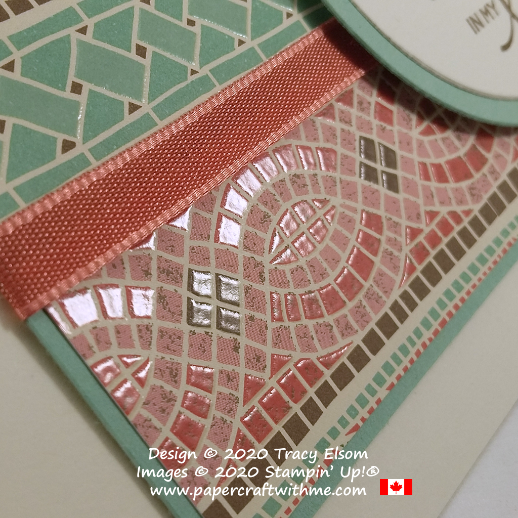 Mosaic Mood Specialty DSP paper from Stampin' Up! has texture and shine just like real tiles. #papercraftwithme