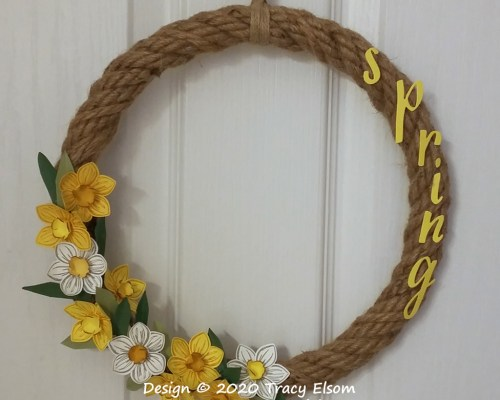 P101 Narcissus & Daffodil Wreath