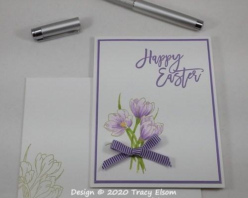 1956 Happy Easter Crocuses Card