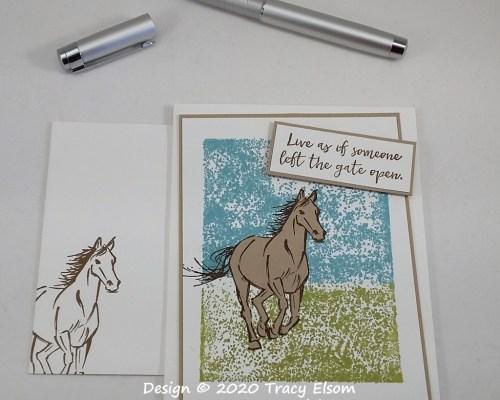 1960 Galloping Horse Card
