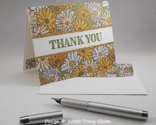 1961 Daisy Thank You Card