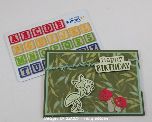 GC216 Birthday Bug Gift Card Holder