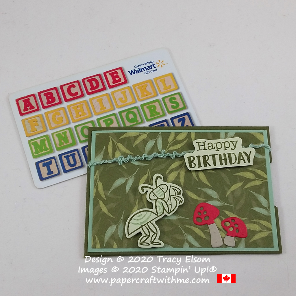 Cute birthday gift card holder created using the Wiggle Worm Stamp Set and Wiggy Bugs Dies from Stampin' Up! #papercraftwithme
