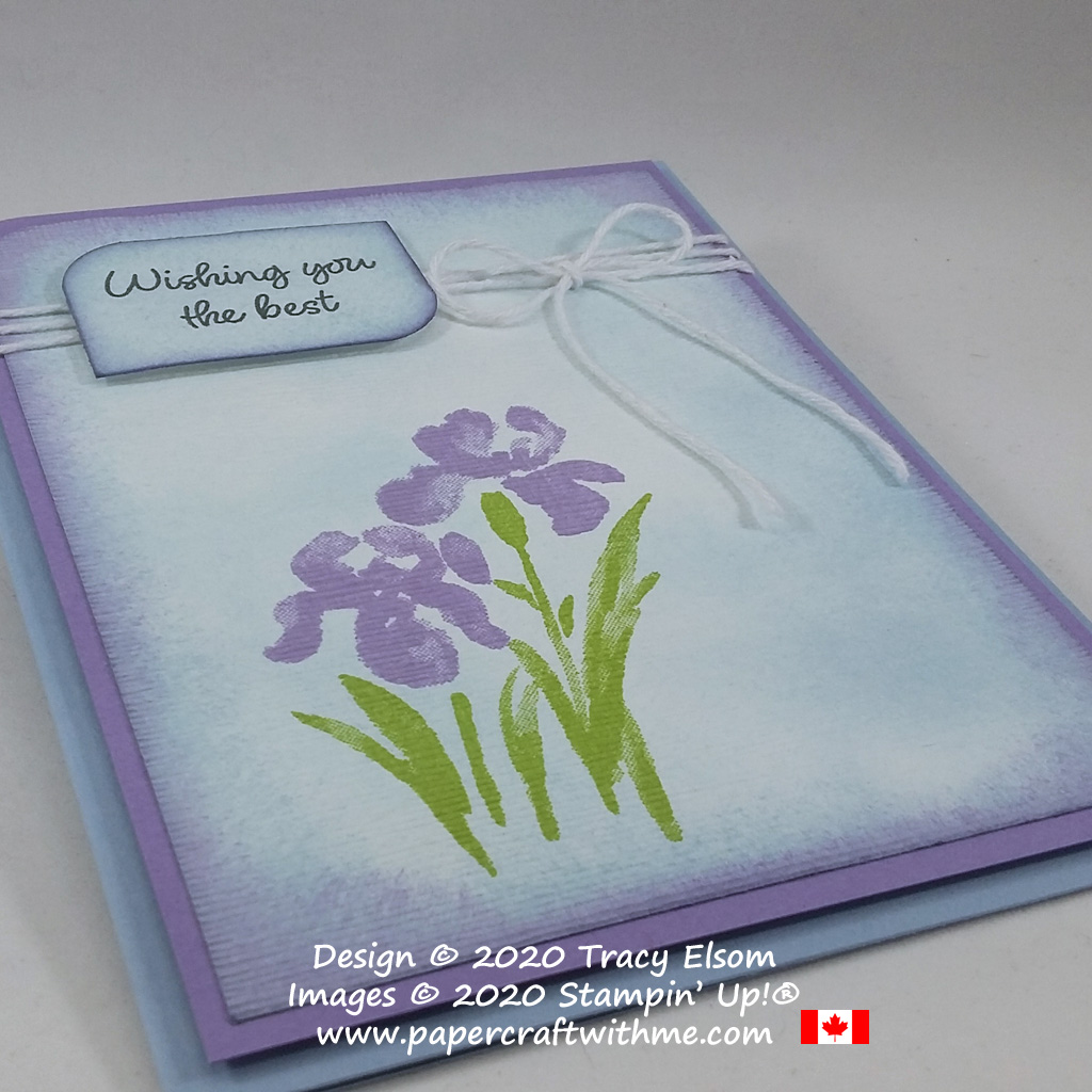 """Wishing you the best"" card created using the Inspiring Iris Stamp Set and Subtle 3D Embossing Folder from Stampin' Up! #papercraftwithme"