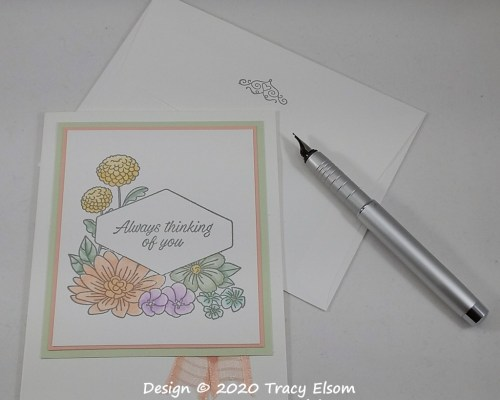 1975 Accented Blooms Card