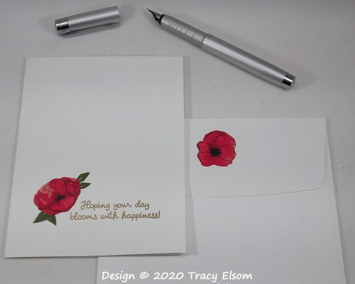 1977 Poppy Happiness Card