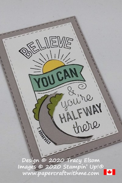 Inspirational fridge magnet created using the Believe You Can (Host) Stamp Set from Stampin' Up! #papercraftwithme