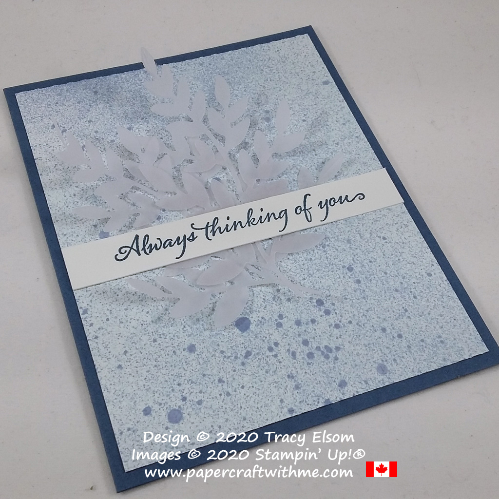 """Always thinking of you"" card created using the Very Versailles Stamp Set, Forever Flourishing Dies and Tasteful Textile 3D Embossing Folder from Stampin' Up! #papercraftwithme"