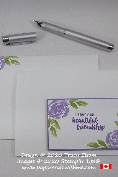 """I love our beautiful friendship"" card created using only the Beautiful Friendship Stamp Set, ink and card from Stampin' Up! #simplestamping #papercraftwithme"