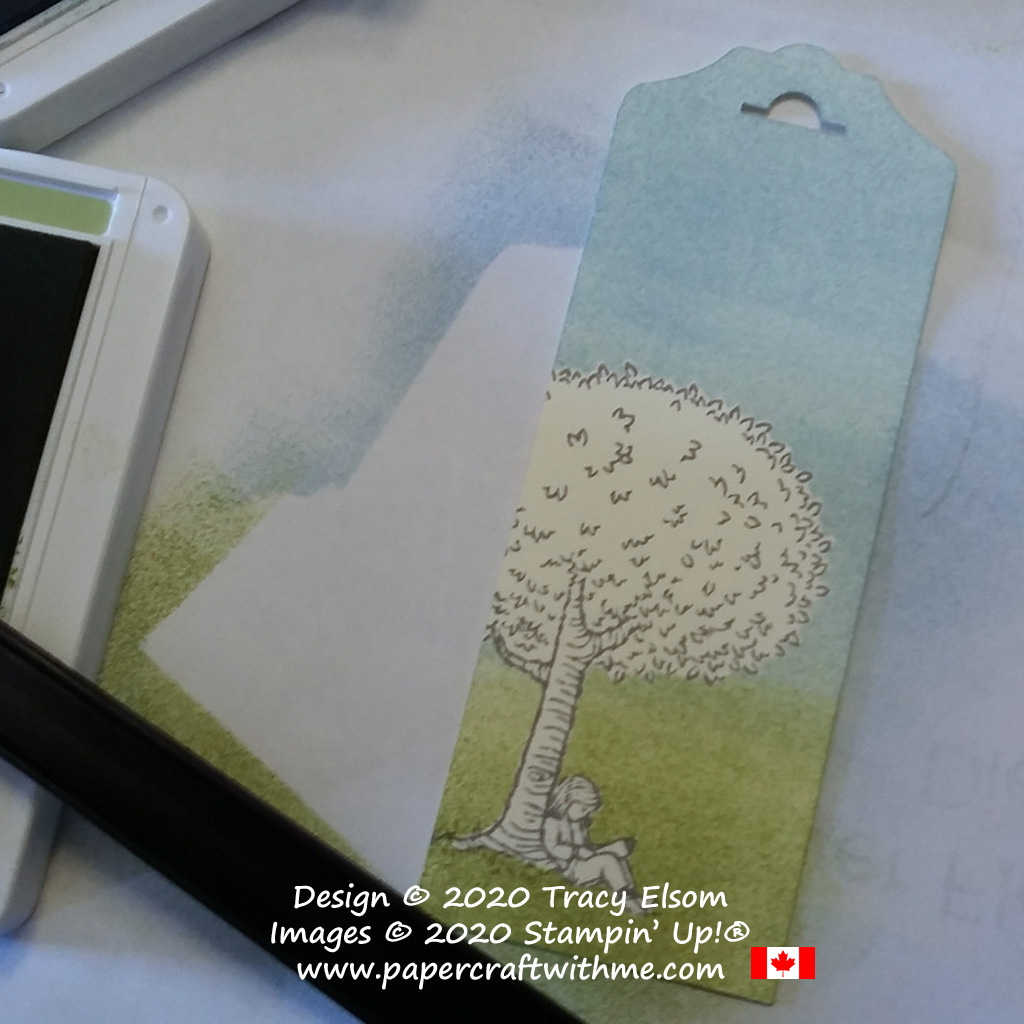 Bookmark with image of child reading created using the Summer Days (Host) Stamp Set from Stampin' Up! #papercraftwithme