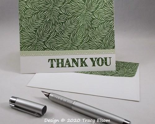 2011 Masculine Leafy Thank You Card