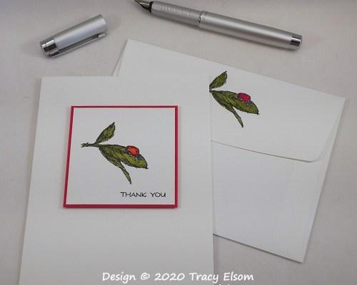 2015 Ladybird Thank You Card