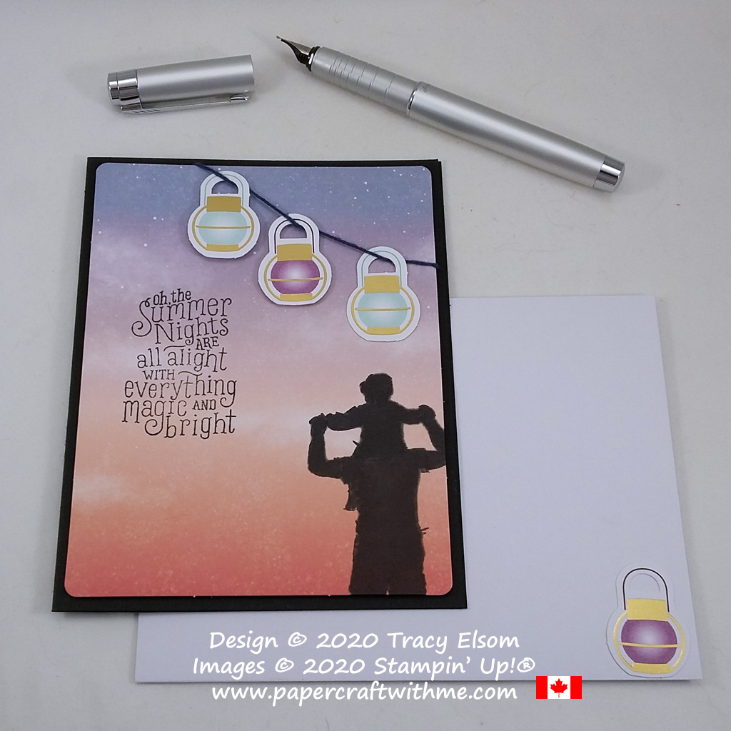 Silhouette card (alternate project) created using the July 2020 Paper Pumpkin kit - Summer Nights, and the A Good Man Stamp Set from Stampin' Up! #papercraftwithme