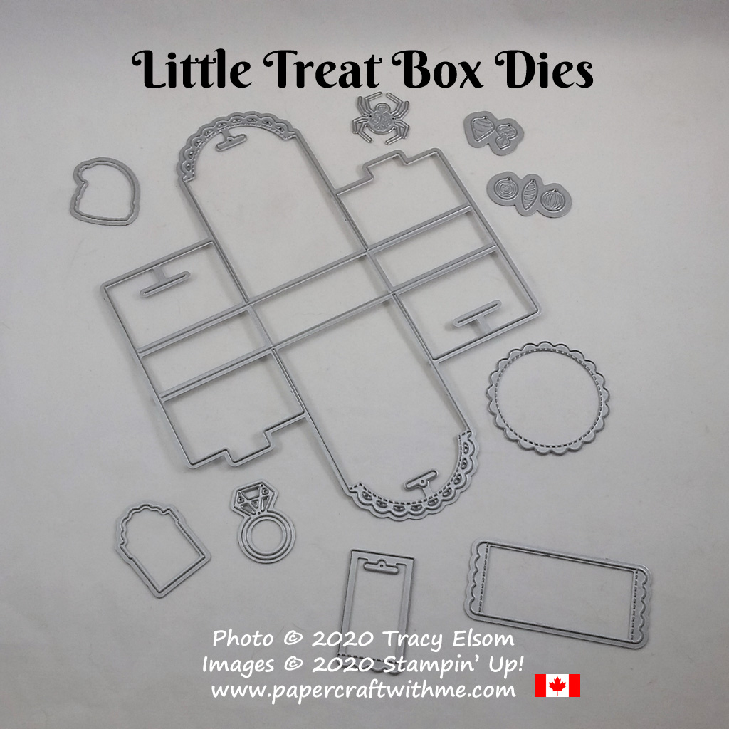 Create small 'no glue required' treat packages using the Little Treat Box Dies from Stampin' Up! #papercraftwithme