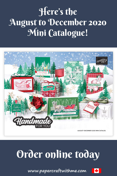 Click here to see the Stampin' Up! August to December 2020 Mini Catalogue