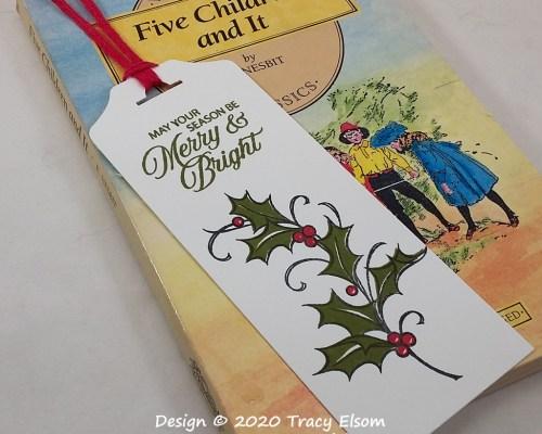 BM307 Merry & Bright Holly Bookmark