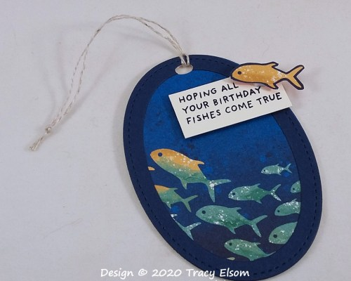Birthday Fishes Gift Tag