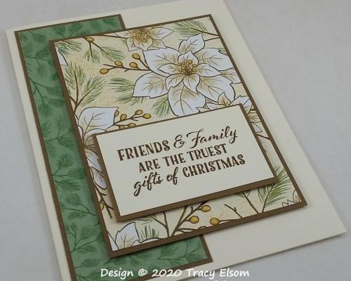 2035 Poinsettia & Pine Card