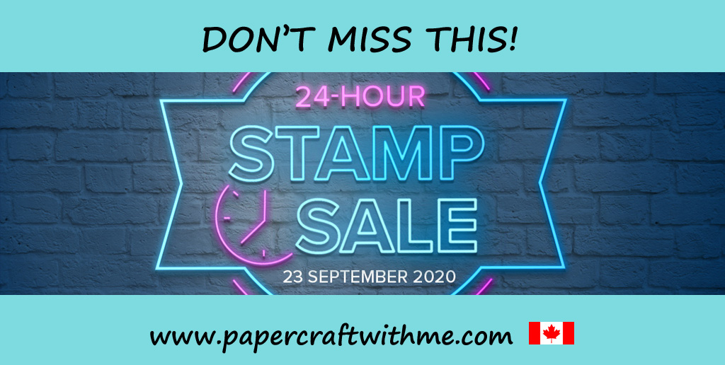 Don't miss this chance to get 15% off selected Stampin' Up! stamp sets - only on September 23rd, 2020. #papercraftwithme