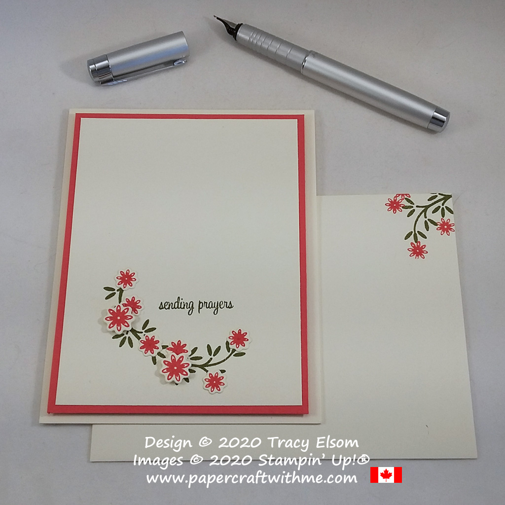 """""""Sending prayers"""" card created using the Itty Bitty Greetings and Ornamental Envelopes Stamp Sets, with Envelopes Dies, all from Stampin' Up! #papercraftwithme"""