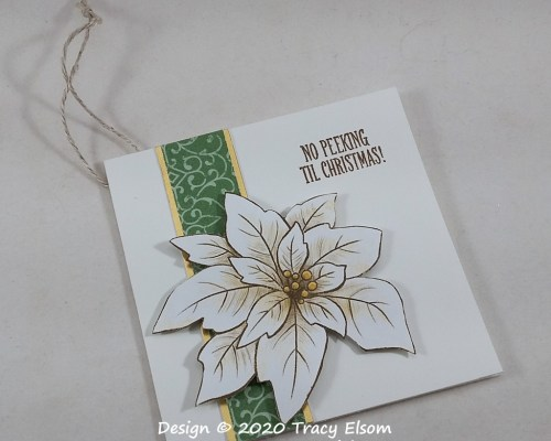 White Poinsettia Gift Tag